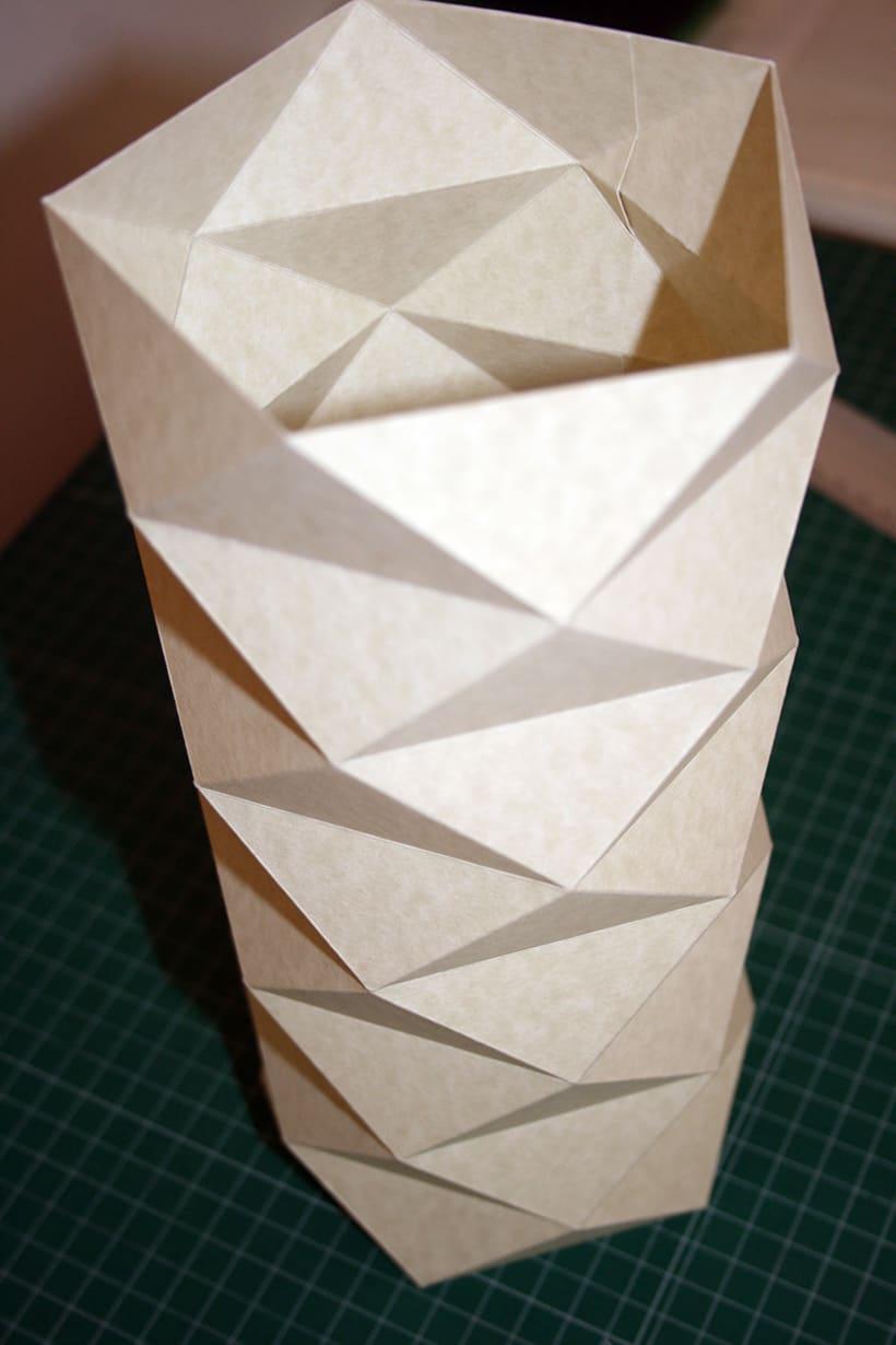 Creación de una lámpara a partir de un tronco de madera. 6