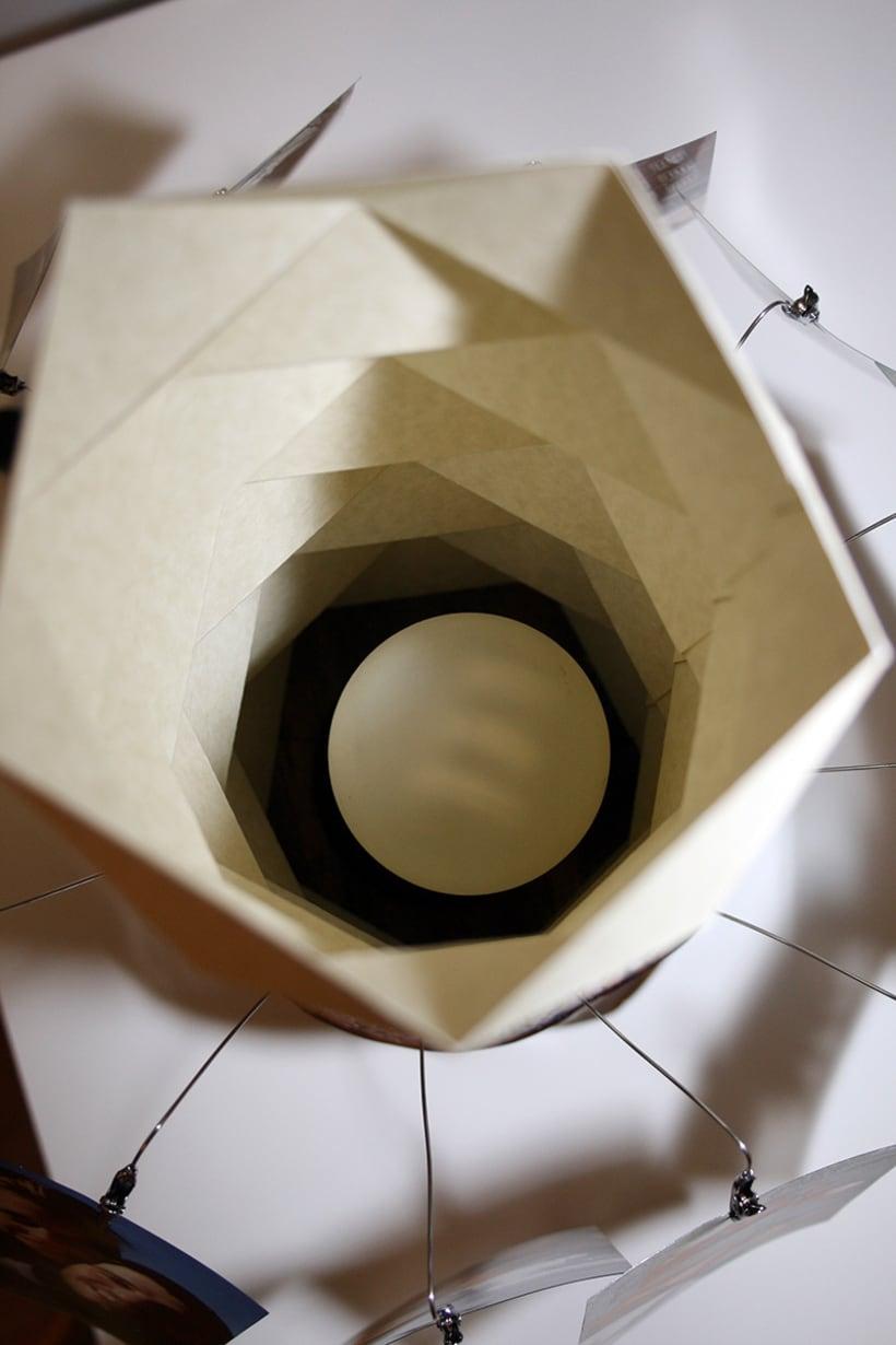 Creación de una lámpara a partir de un tronco de madera. 7