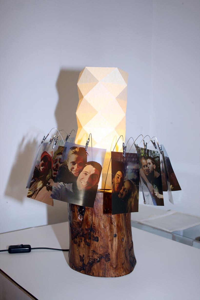 Creación de una lámpara a partir de un tronco de madera. 8