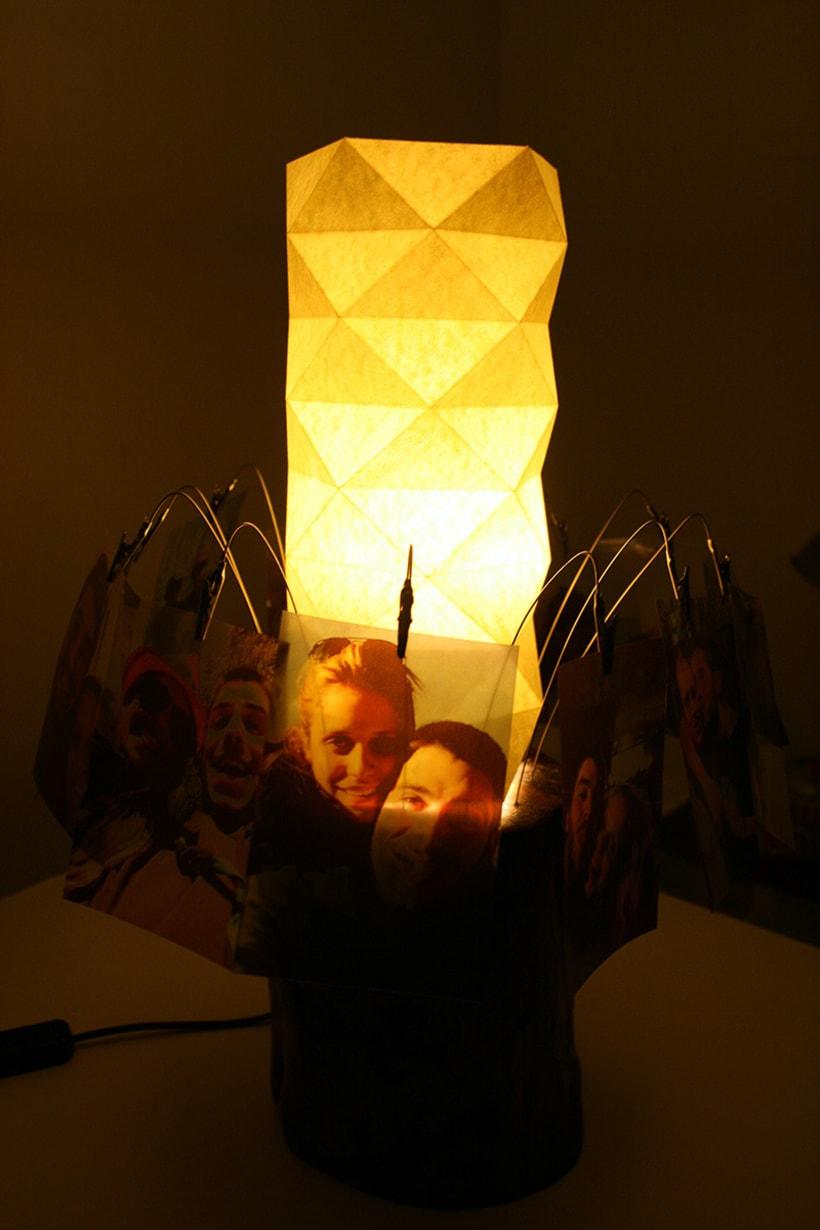 Creación de una lámpara a partir de un tronco de madera. 9