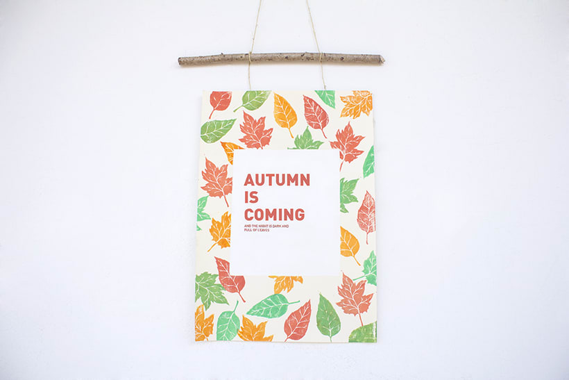 Handmade poster / Autumn is coming 0