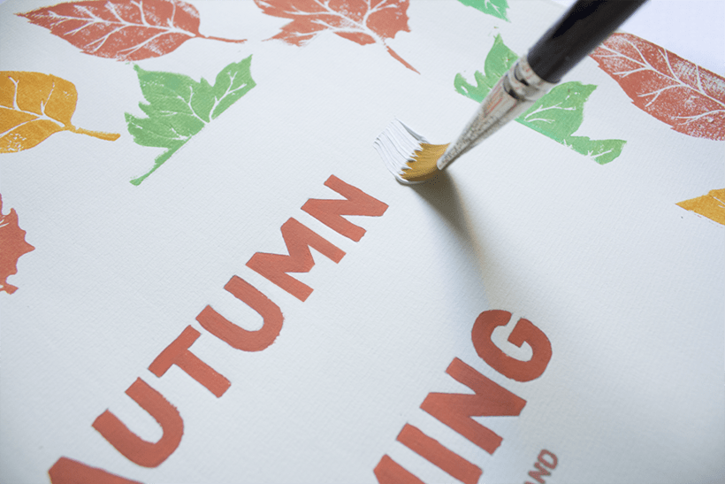 Handmade poster / Autumn is coming 3