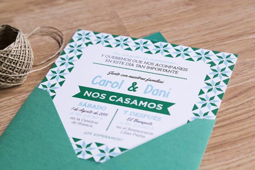 Invitaciones de Boda para Carol & Dani 2