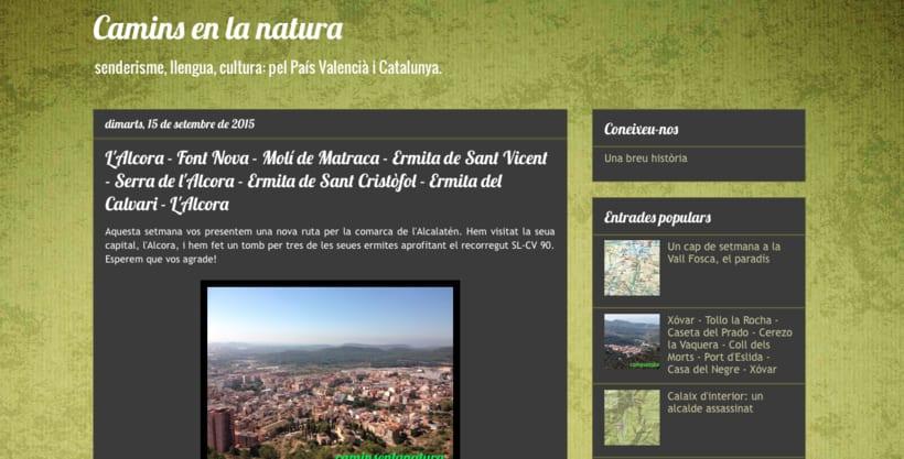 """Blog sobre senderismo y medio rural """"Camins en la natura"""" -1"""