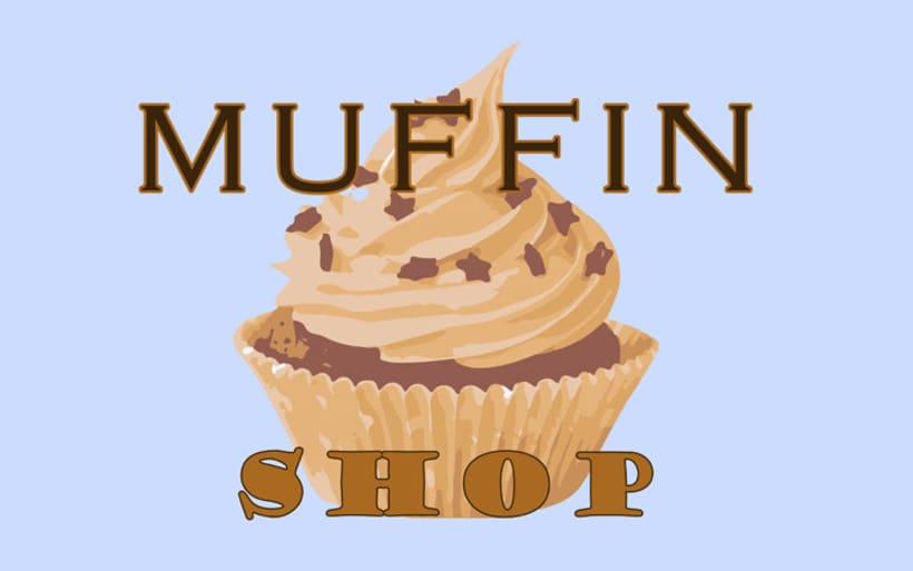 "Diseño de imagen ""Muffin shop"". -1"