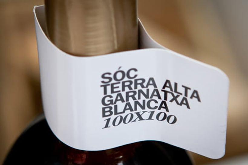 Logotip per a la denominació d'origen Terra Alta per als vins de 100% Garnatxa blanca 2