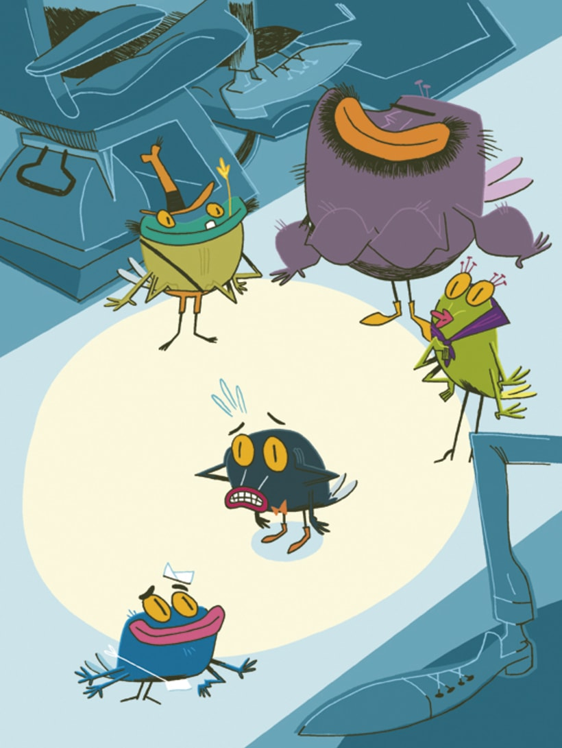 La verdadera historia de la mosca de la tele. 0