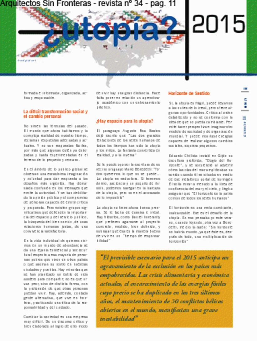 ASF - Arquitectos Sin Fronteras /// #Ilustración #Editorial #utopía #tejer 1