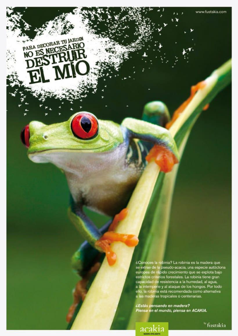 Fustakia: campaña gráfica para marca de parquet ecológico 1