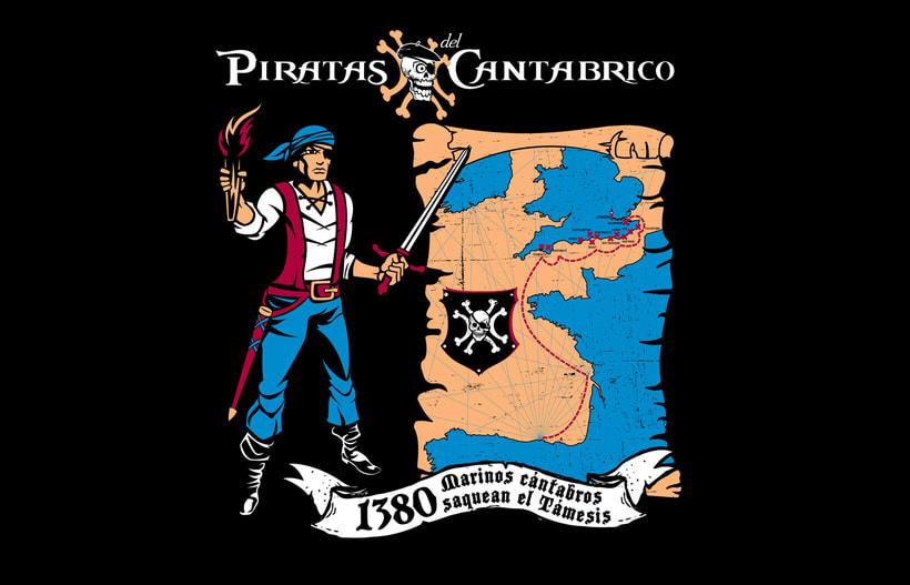Camisetas PIRATAS DEL CANTÁBRICO 5
