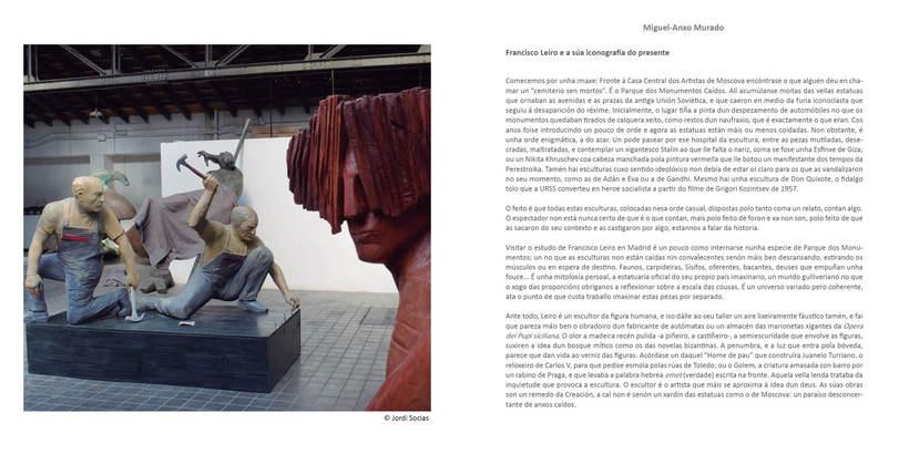 """CATALOGO FRANCISCO LEIRO """" ESCULTURAS SENTIDAS"""" 3"""