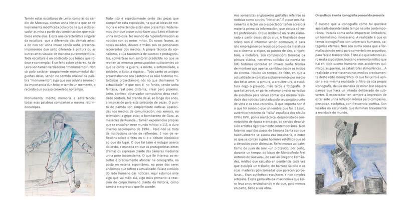 """CATALOGO FRANCISCO LEIRO """" ESCULTURAS SENTIDAS"""" 4"""
