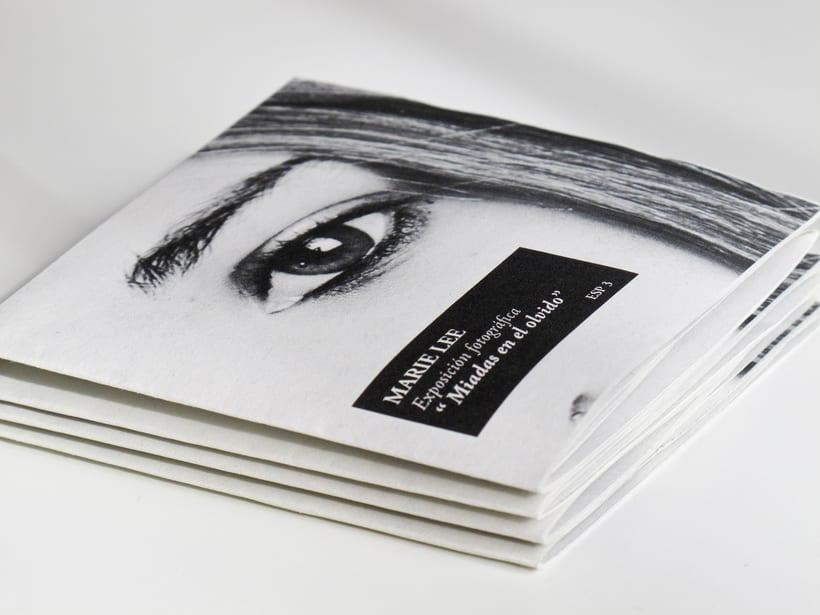 Mini Folleto Exposiciones. Diseño Editorial -1