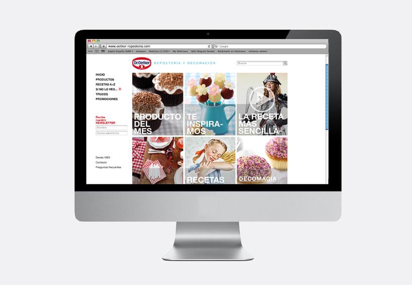 Repostería Dr. Oetker: Dirección de arte para el layout de la web y para las sesiones de fotos de recetas 2
