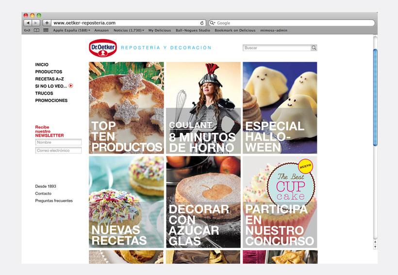 Repostería Dr. Oetker: Dirección de arte para el layout de la web y para las sesiones de fotos de recetas 3
