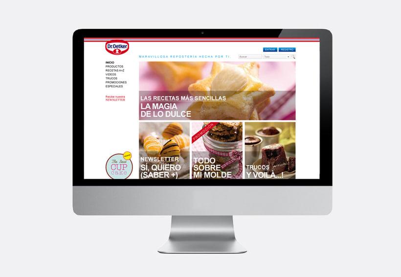 Repostería Dr. Oetker: Dirección de arte para el layout de la web y para las sesiones de fotos de recetas 4