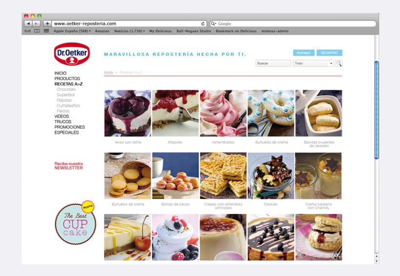 Repostería Dr. Oetker: Dirección de arte para el layout de la web y para las sesiones de fotos de recetas 5