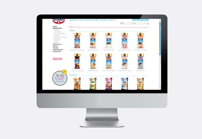 Repostería Dr. Oetker: Dirección de arte para el layout de la web y para las sesiones de fotos de recetas 6