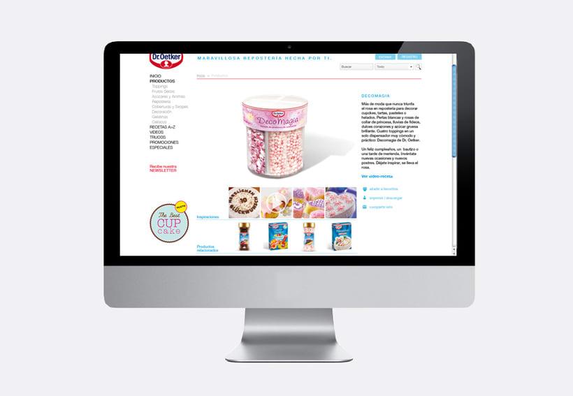 Repostería Dr. Oetker: Dirección de arte para el layout de la web y para las sesiones de fotos de recetas 8