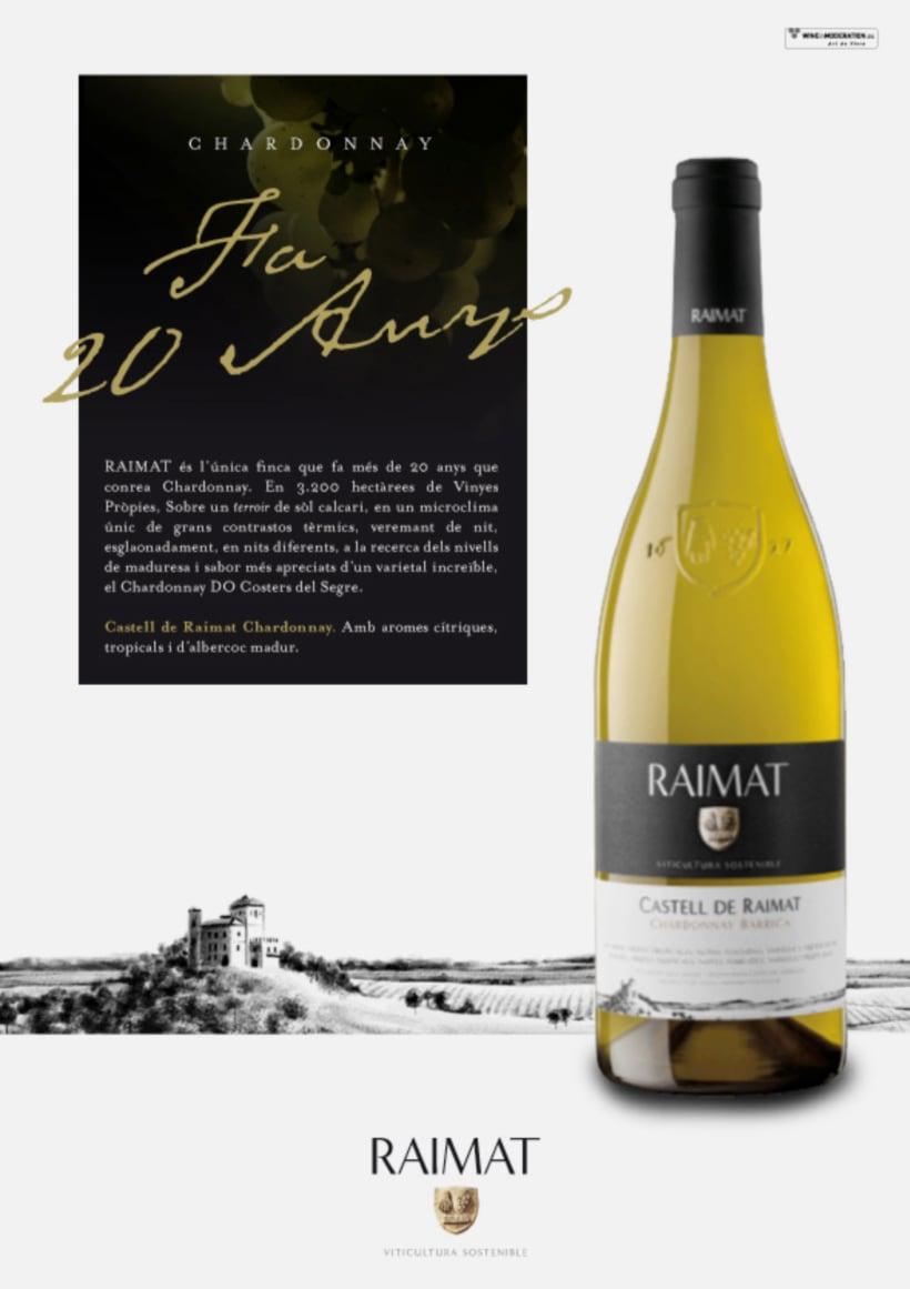Raimat: campaña gráfica para gama de vinos 1