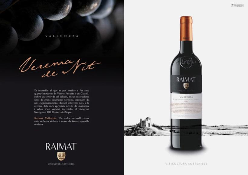 Raimat: campaña gráfica para gama de vinos 2