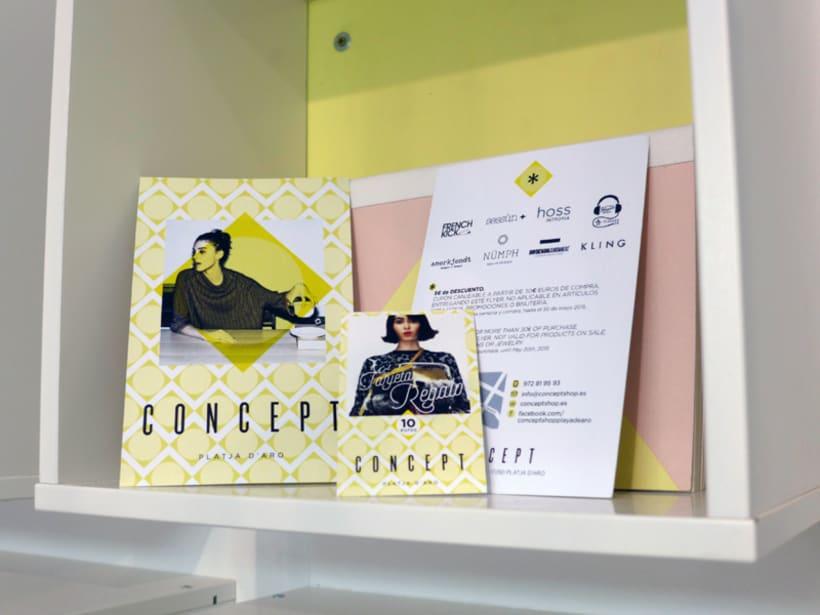 Concept: imagen de la tienda (gráfica e interiores) y materiales gráficos 2