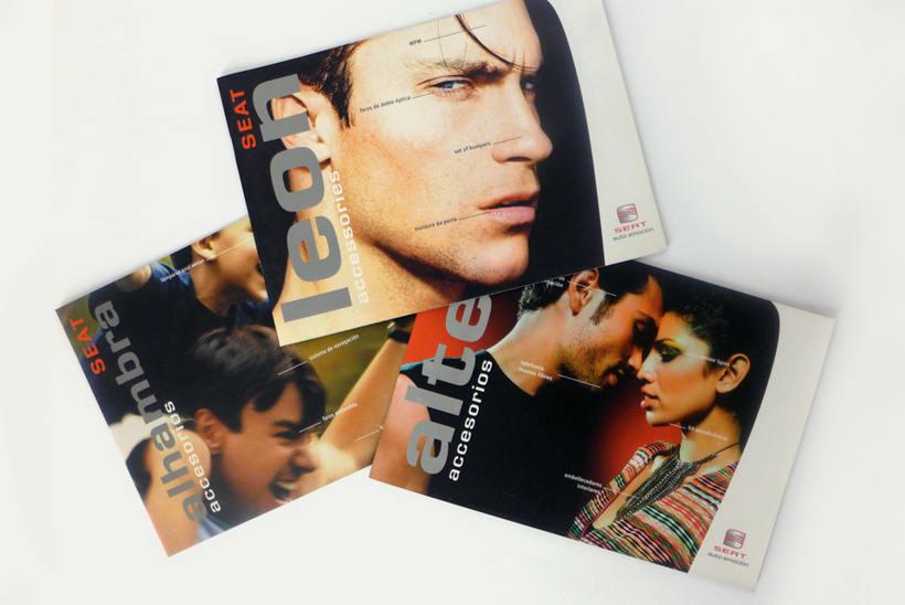 SEAT: diseño de catálogos y anuncios de prensa (dirección de arte en foto -1
