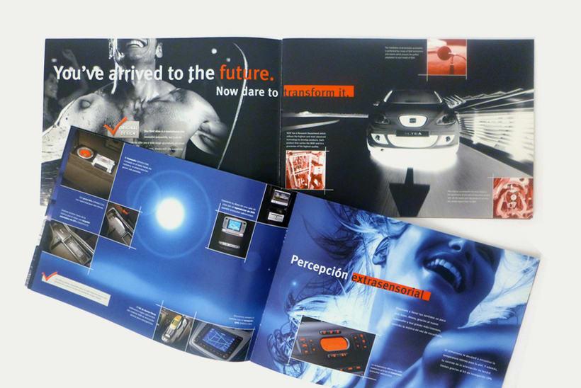 SEAT: diseño de catálogos y anuncios de prensa (dirección de arte en foto 0