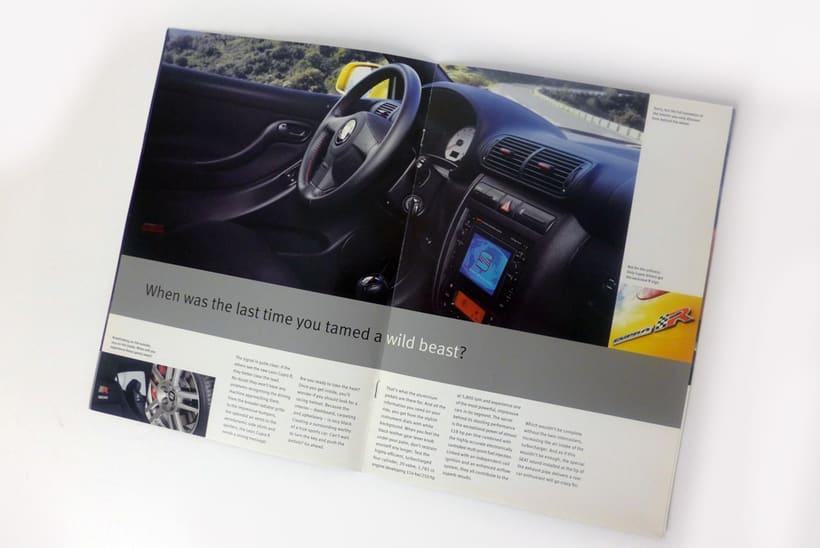 SEAT: diseño de catálogos y anuncios de prensa (dirección de arte en foto 1