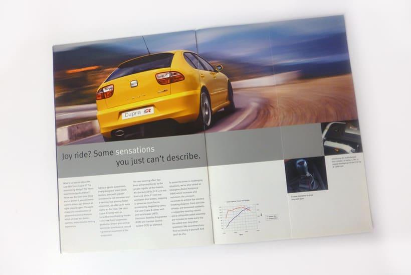 SEAT: diseño de catálogos y anuncios de prensa (dirección de arte en foto 2