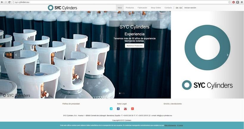 Página Web SYC Cylinders 1