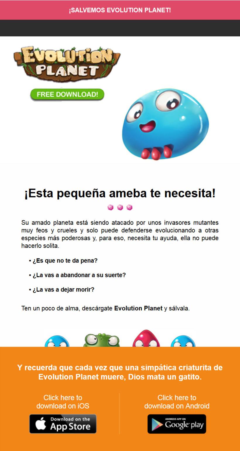 Newsletter Juego Evolution Planet de Play Wireless - Ameba 0