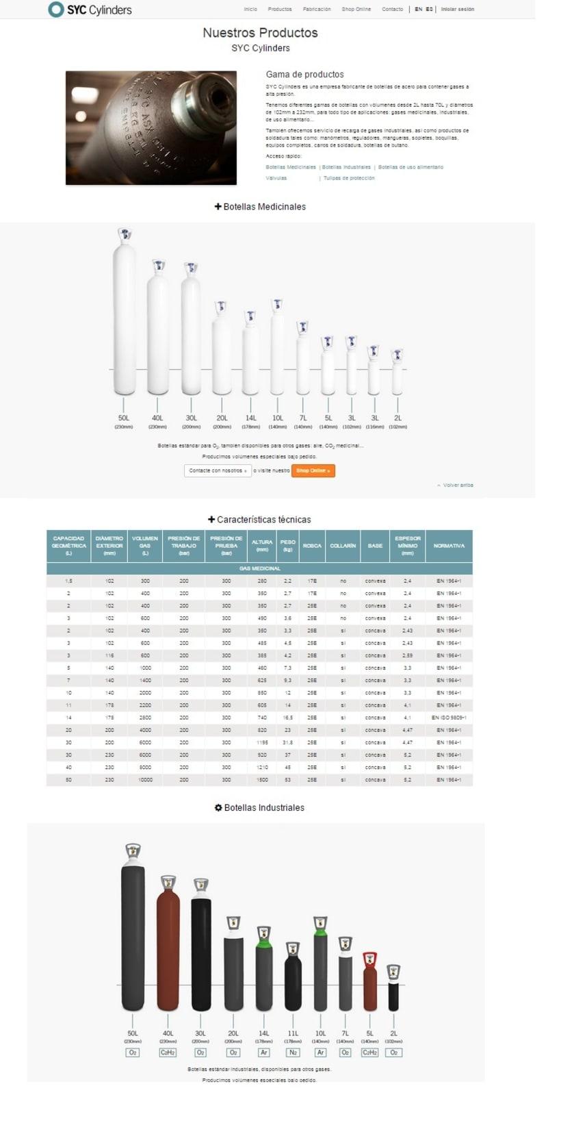 Página Web SYC Cylinders 3