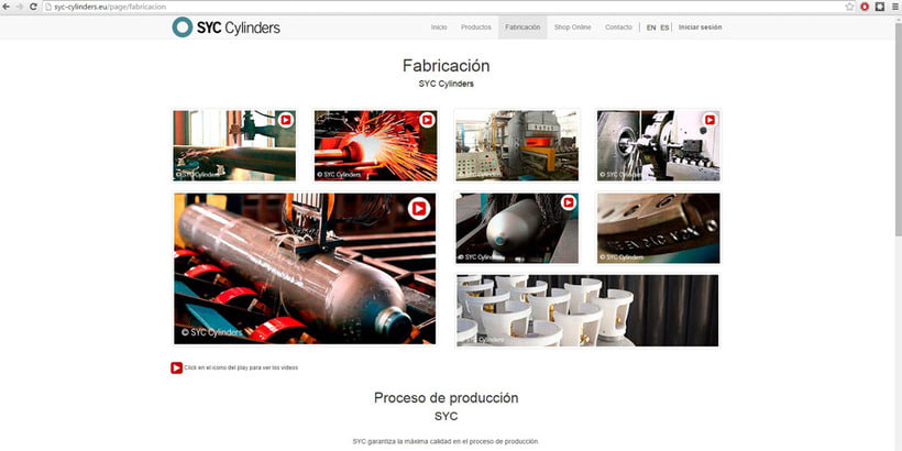 Página Web SYC Cylinders 5