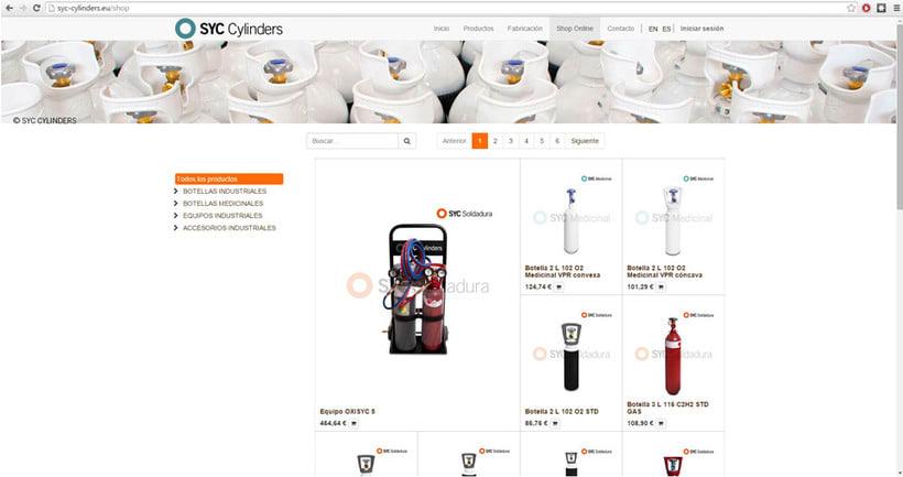 Página Web SYC Cylinders 7