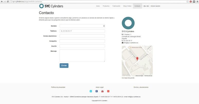 Página Web SYC Cylinders 9