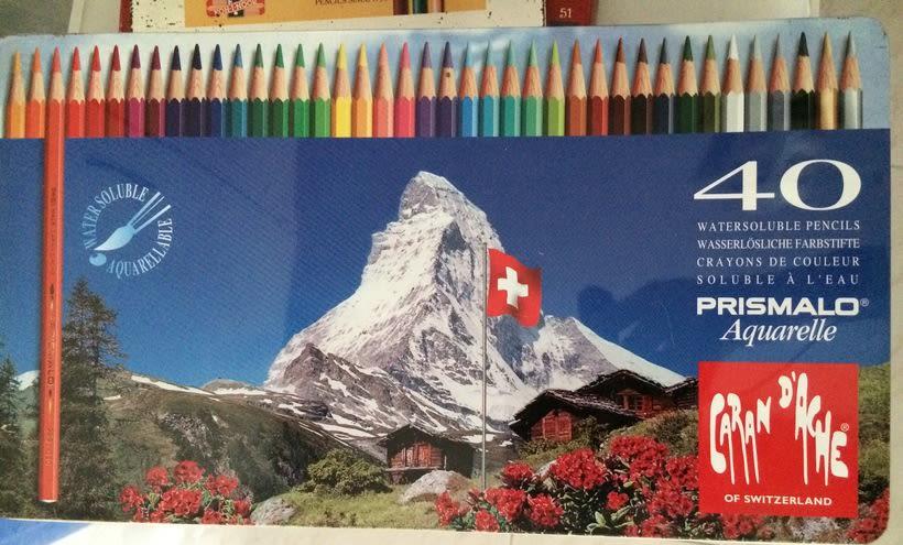 PRISMALO - Caja de 40 lápices de colores SOLUBLES 2