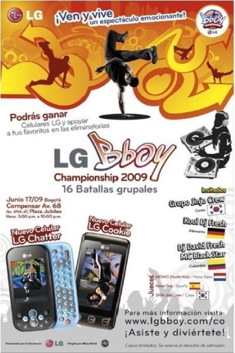 Tercer puesto en el LG Bboy Colombia  8
