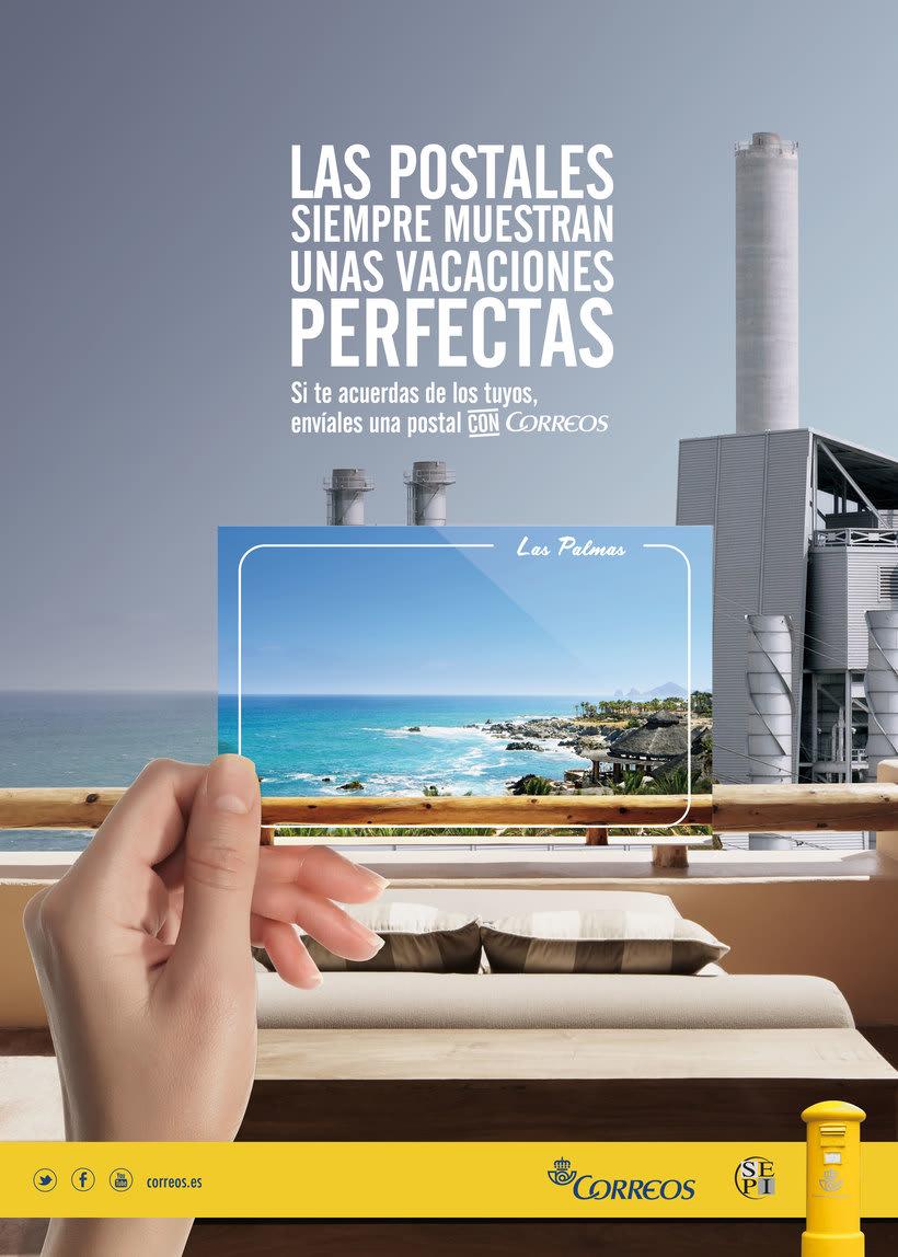 Correos. Campaña para turistas. Fomentar el envío de postales como souvenir.  2