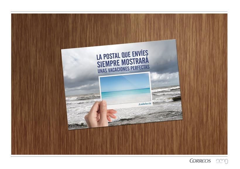 Correos. Campaña para turistas. Fomentar el envío de postales como souvenir.  3