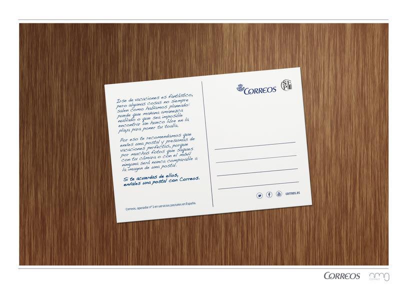 Correos. Campaña para turistas. Fomentar el envío de postales como souvenir.  4