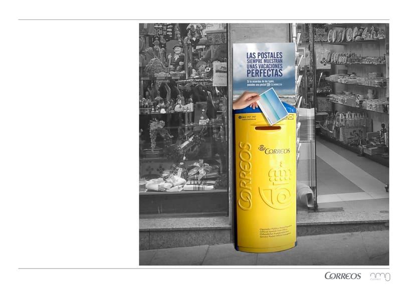 Correos. Campaña para turistas. Fomentar el envío de postales como souvenir.  6