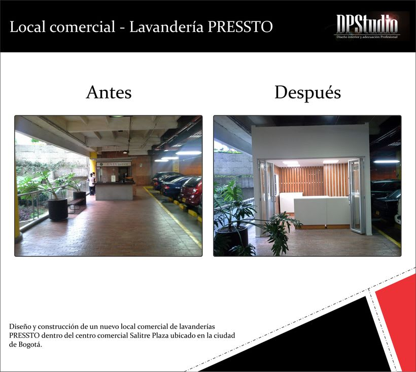 Local comercial lavander as pressto domestika for Disenos de lavanderias