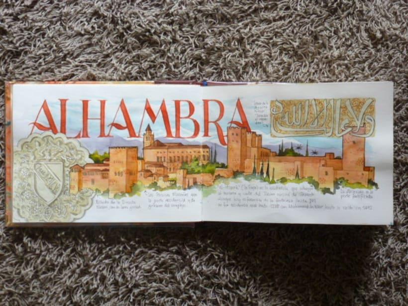Libro de acuarelas de Granada 1
