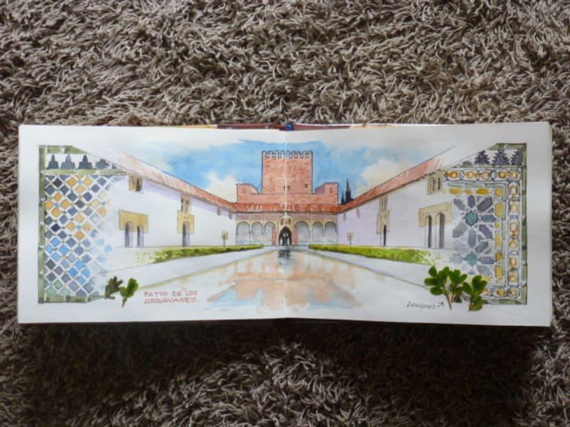 Libro de acuarelas de Granada 6