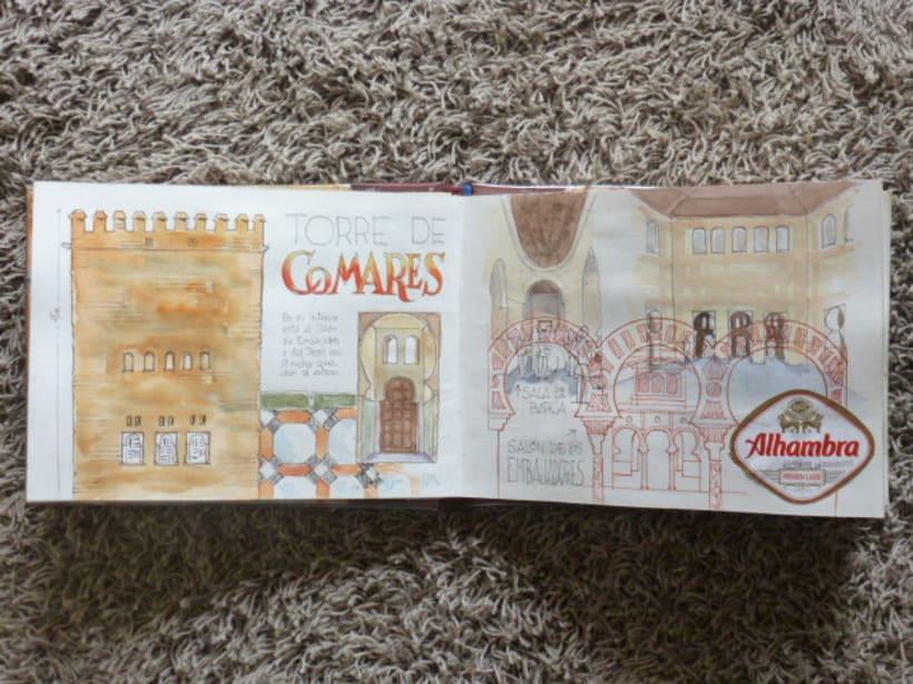 Libro de acuarelas de Granada 7