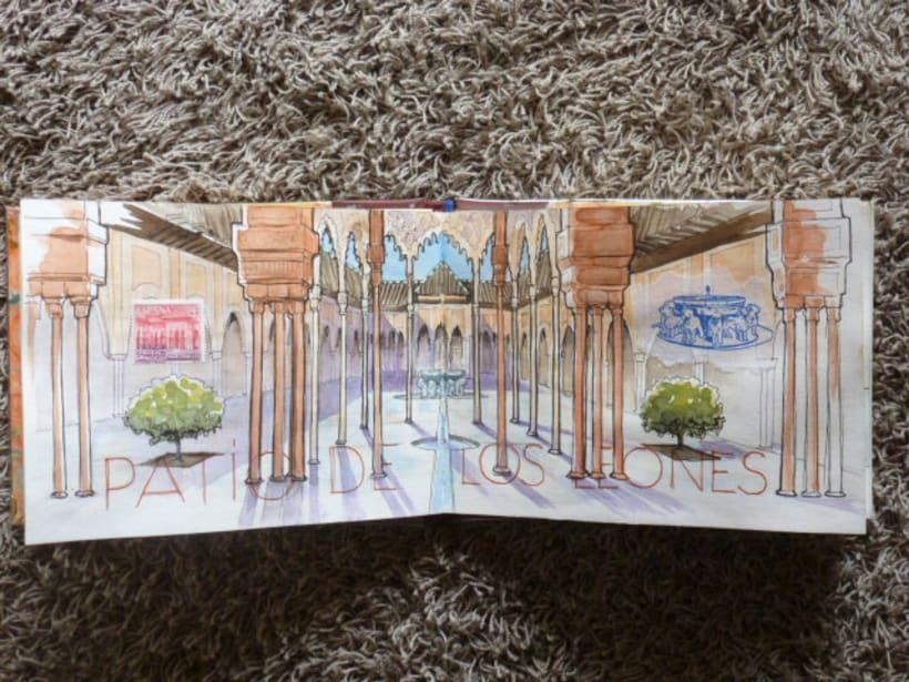 Libro de acuarelas de Granada 8