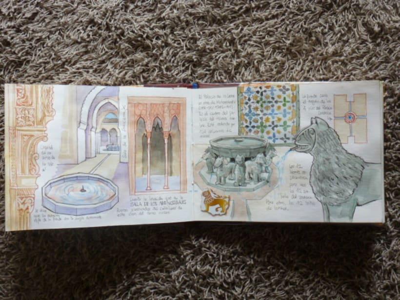 Libro de acuarelas de Granada 9