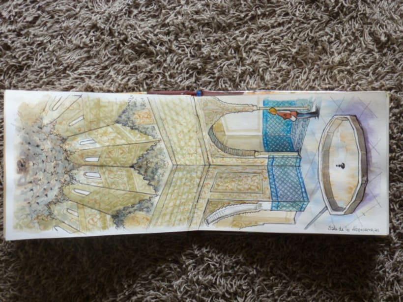 Libro de acuarelas de Granada 10