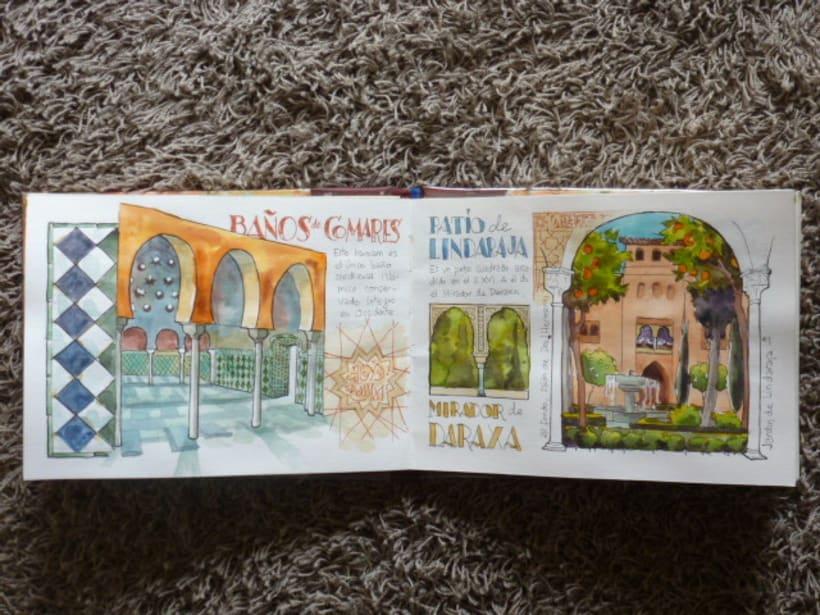 Libro de acuarelas de Granada 12